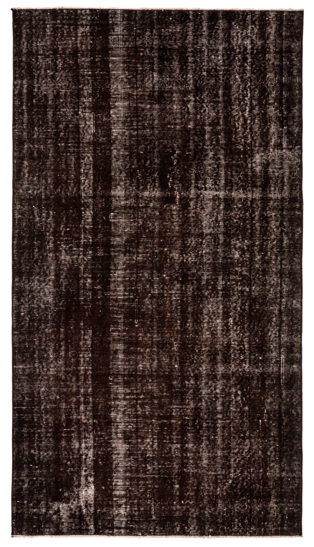 Stylish Black Overdyed Rug Recolored Carpets