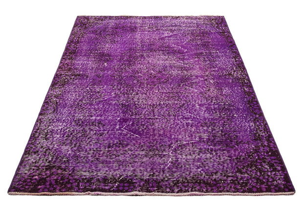 Over Dyed Purple Rug Recolored Carpets