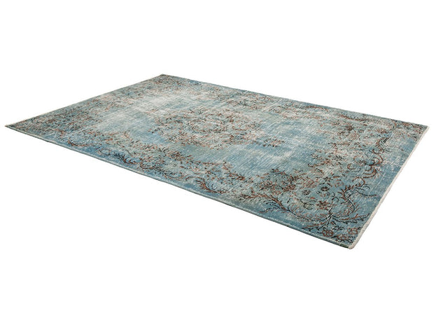 Blue wool area rug