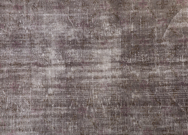 Dark Brown Faded Overdyed Rug