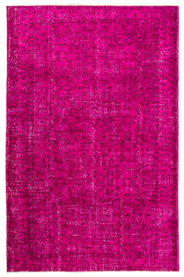Fuchsia Over Dyed Rug Recolored Carpets