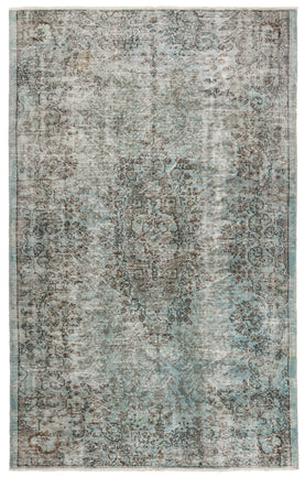 Blue Overdyed Rug Recolored Carpets