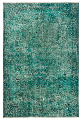 Overdyed Rug Turquoise Recolored Carpets