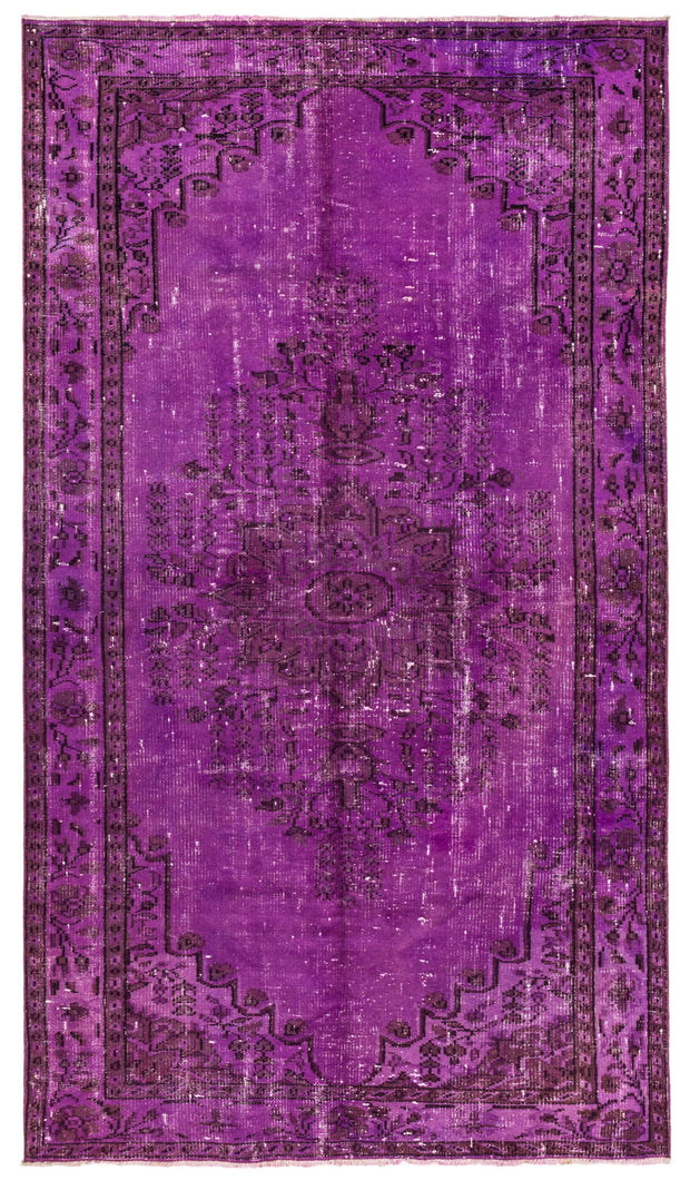 Purple Overdyed Rug Recolored Carpets