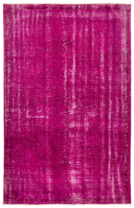 Fuchsia Overdyed Rug Recolored Carpets