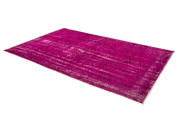 Distressed Pink Overdyed Rug