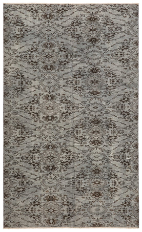 Gray Floral Rug