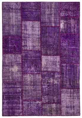 Purple Patchwork Rug Recolored Carpets