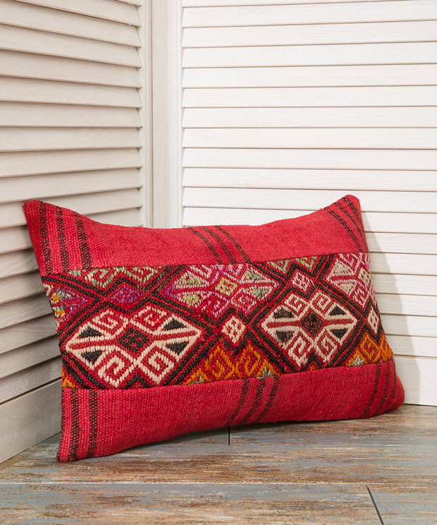 Red Kilim Pillow - The Orient Bazaar