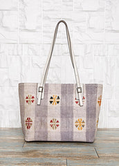 Bohemian Leather Tote Bag