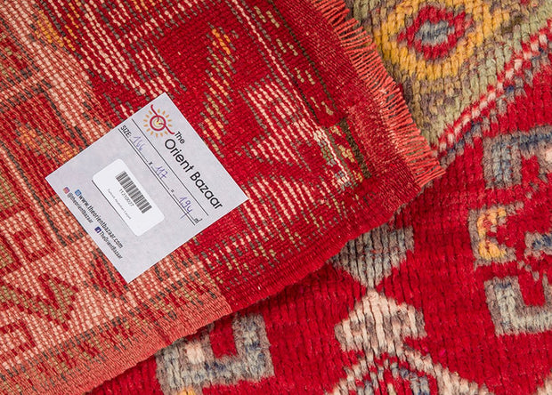 Overdyed Red Rug