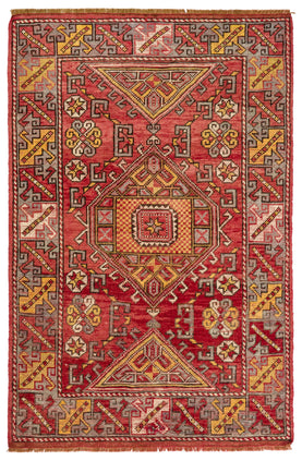 Traditional Handknotted Rug Vintage Carpets
