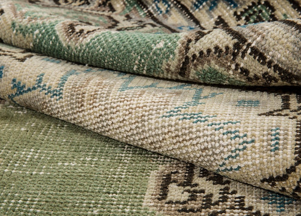 Turkish Green Rug Vintage Carpets