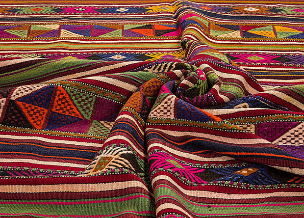Embroidered Eclectic Rug