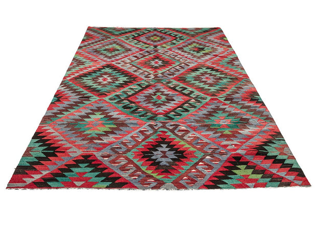 Retro Style Long Area Rug Kilim Rugs