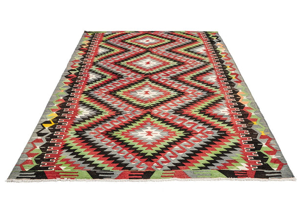 Diamond Pattern Vintage Rug Kilim Rugs