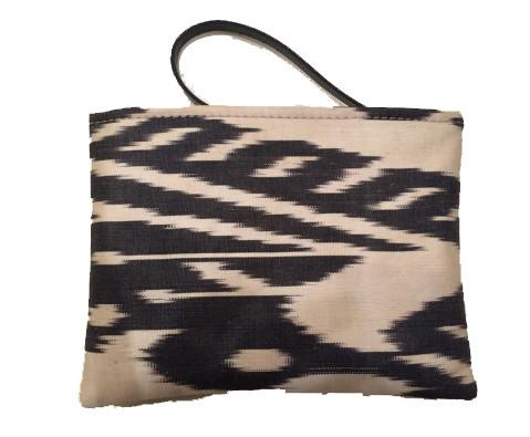 Small Ikat Purse - ikat Pouch Bag - Zipper Bag - Passport Case -1