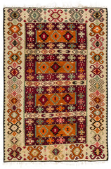 Orange Boho Decor Large Runner Rug