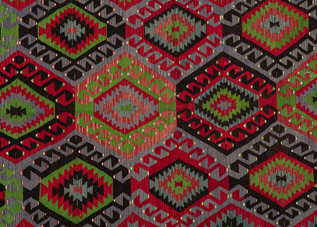 Traditional Design Red and Black Farmhouse Rug