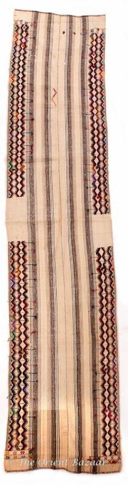 Semi-Antique Adiyaman Kilim Runner 2'x10' Runners
