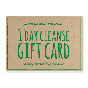 1 Day Juice Cleanse Gift Voucher