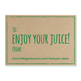 3 Day Juice Cleanse Gift Voucher