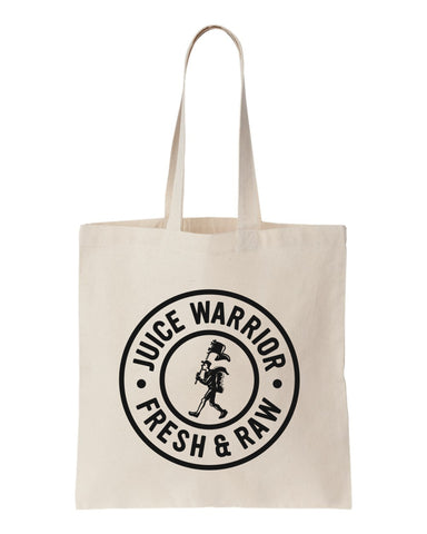 Juice Warrior cotton tote bag