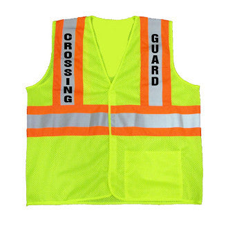 Crossing Guard Class 2 Safety Vest, Small - 5XL