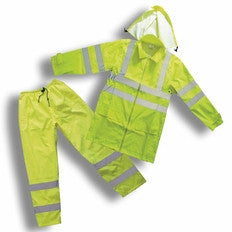 Forester 7252 Class 3 lighter weight for warmer climates rain suit, Small - 8XL