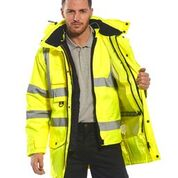 Portwest 7-in-1, Class 3 Parka System w Removable Liner, S-5XL