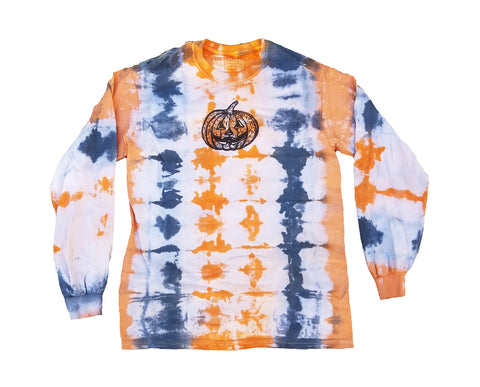 Halloween 2020 Pumpkin Tiedye Long Sleeve