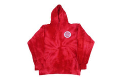 Circle FD Tiedye Pullover Hoodie (Red Twist)