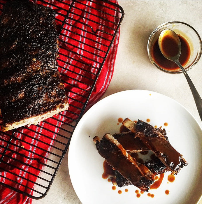 Coffee Spice Rubbed Spareribs