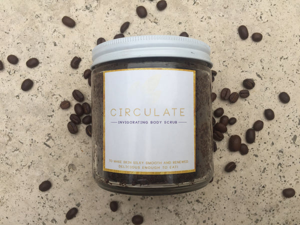 CIRCULATE :: Cacao Coffee Sugar Scrub w/ Essential Oil Blend