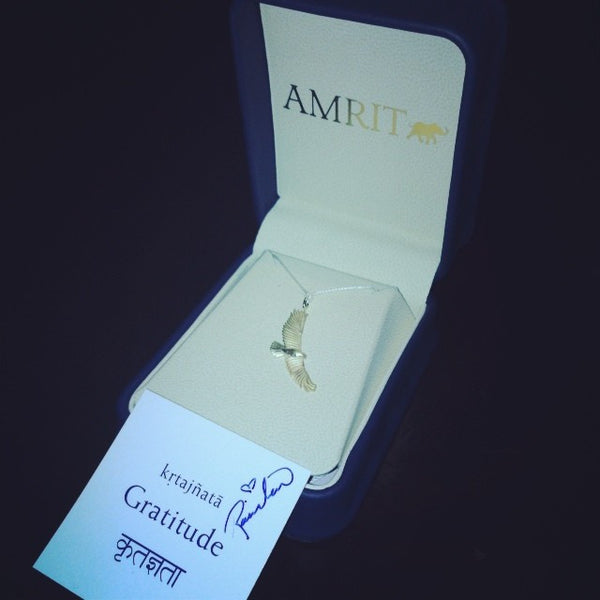 Amrit Golden Eagle Necklace
