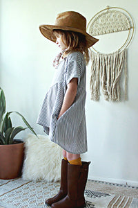 Everly Tunic | Grey Stripe