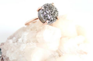 Silver and Rose Gold Druzy Ring
