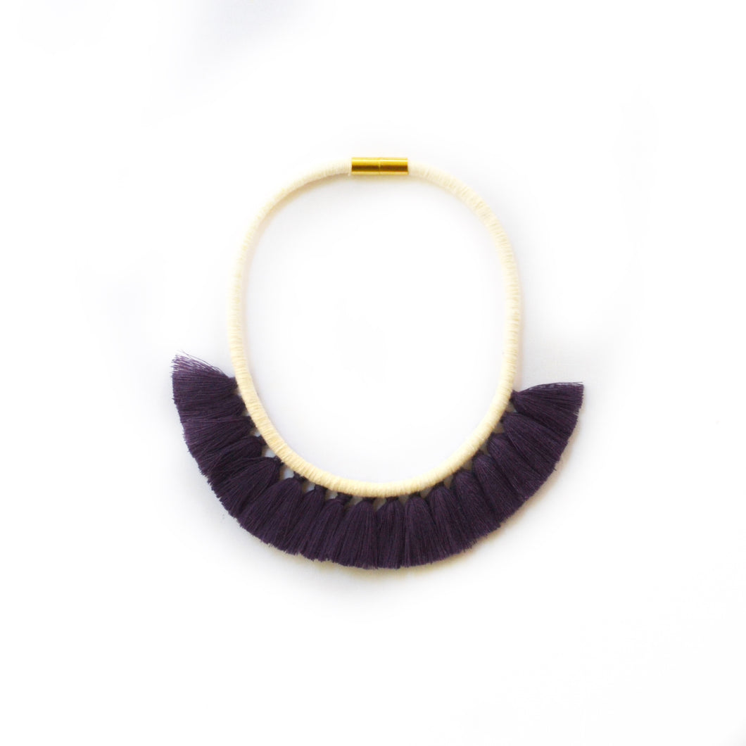 Eggplant Tassel Necklace
