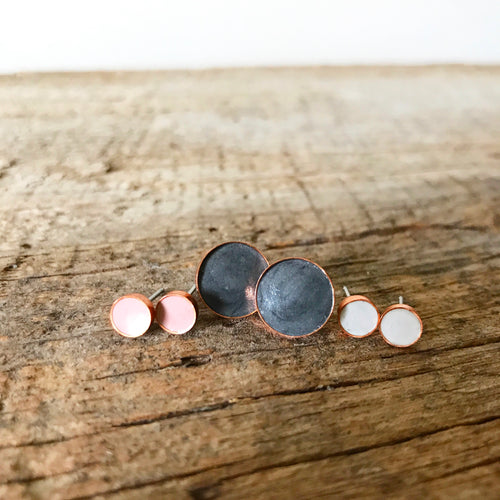 Copper + Cement Studs