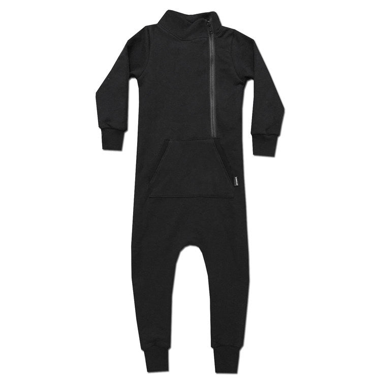 All Black Everything Herringbone Coverall - theMINIclassy