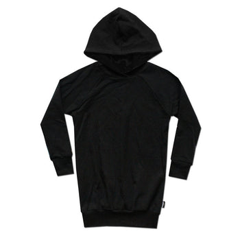 All Black Everything Hoodie Dress - theMINIclassy