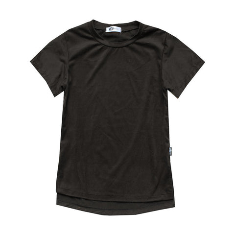 All Black Everything Faux Suede Tunic Tee - theMINIclassy