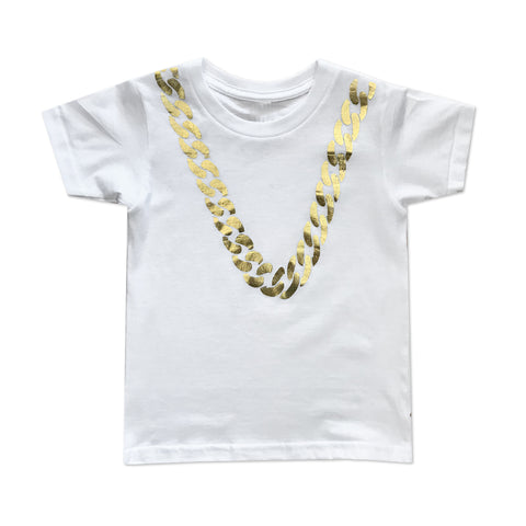 Big Chain Tee - White - theMINIclassy