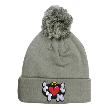 Heart Breaker Beanie - Grey - theMINIclassy