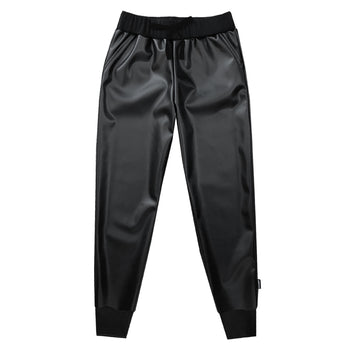 The Rebirth of Slick Faux Leather Jogger - theMINIclassy