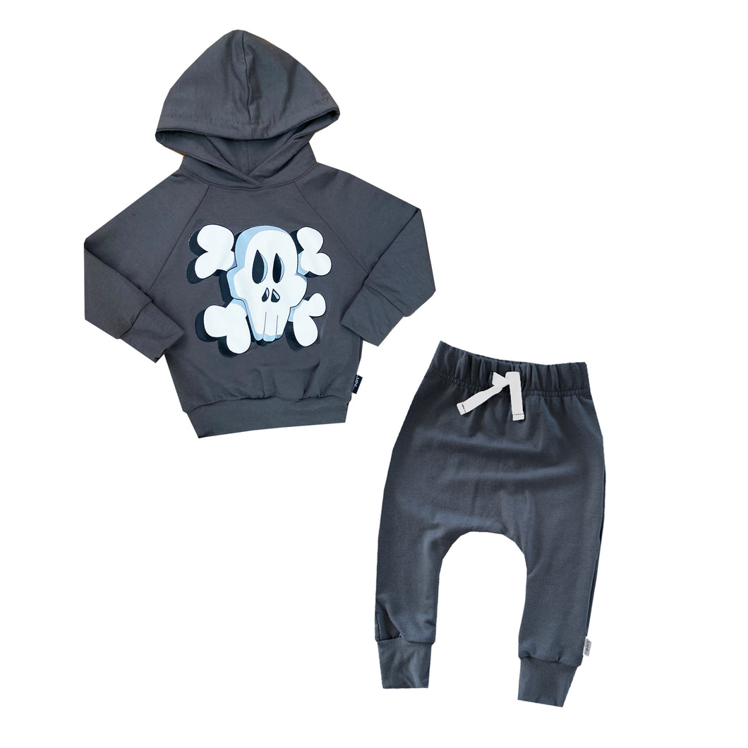Bad To The Bone Hoodie & Harem Baby Set - theMINIclassy