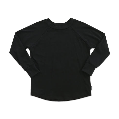 Back in Black Raglan - theMINIclassy