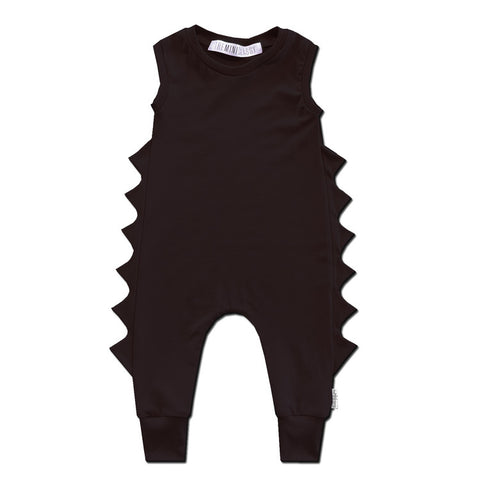 Baby Dino Romper - All Black Everything - theMINIclassy