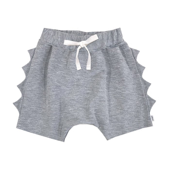 Athletic Grey Dino Shorts - theMINIclassy