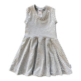 Stripes on Stripes Skater Dress with Mesh Back - theMINIclassy